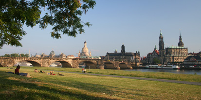 Historic city centre of Dresden in the afternoon