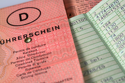 An old driving licence in Germany. Now the EU/EEA licence is the only one issued.