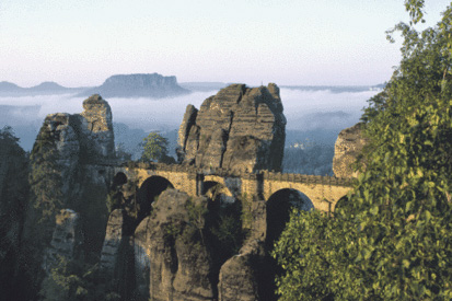 The Bastion in the Elbe sandstone mountains