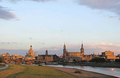Canaletto's view of Dresden