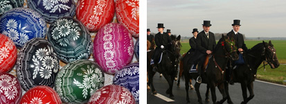Sorb Easter eggs and the traditional Easter ride