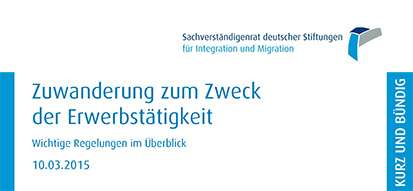 Cover of the Information »Immigration for the purpose of gainful employment – Important regulations at a glance« which is only available in German