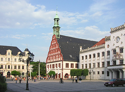 The main marketplace in Zwickau