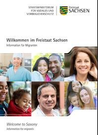 Brochure »Welcome to Saxony - Information für migrants«